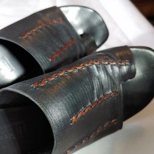 Cole Haan Leather Sandals with Toe Ring